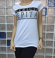 Летняя женская турецкая футболка белая