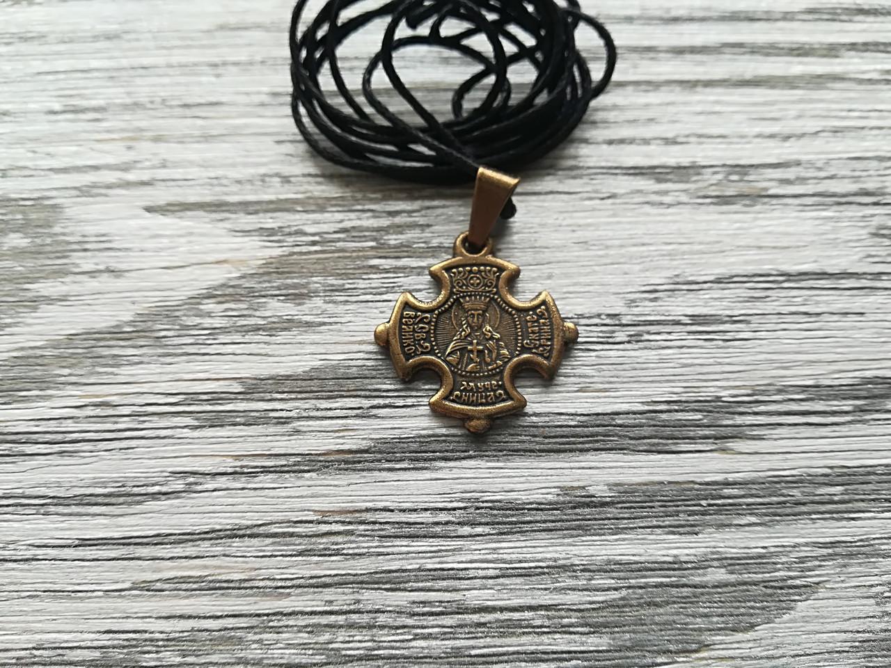 Екатерина Именной Нательный Крест Женский Православный  Медненный размер 30*22 мм