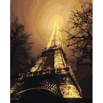 """Картина по номерам Городской пейзаж """"В красках ночного города"""" KHO2190"""