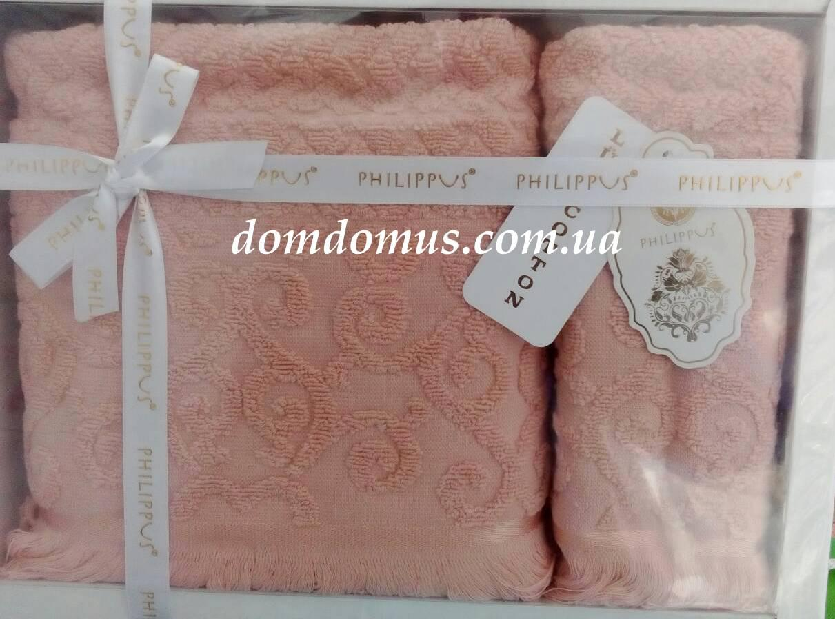 Подарочный набор полотенец ( баня+лицо) Жаккард Philippus, Турция 2532