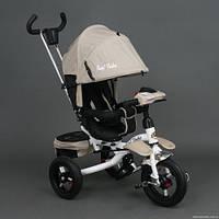 Детский трёхколёсный велосипед 6595 БЕЖЕВЫЙ