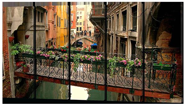 Модульная картина Мост. Венеция 118*64 см