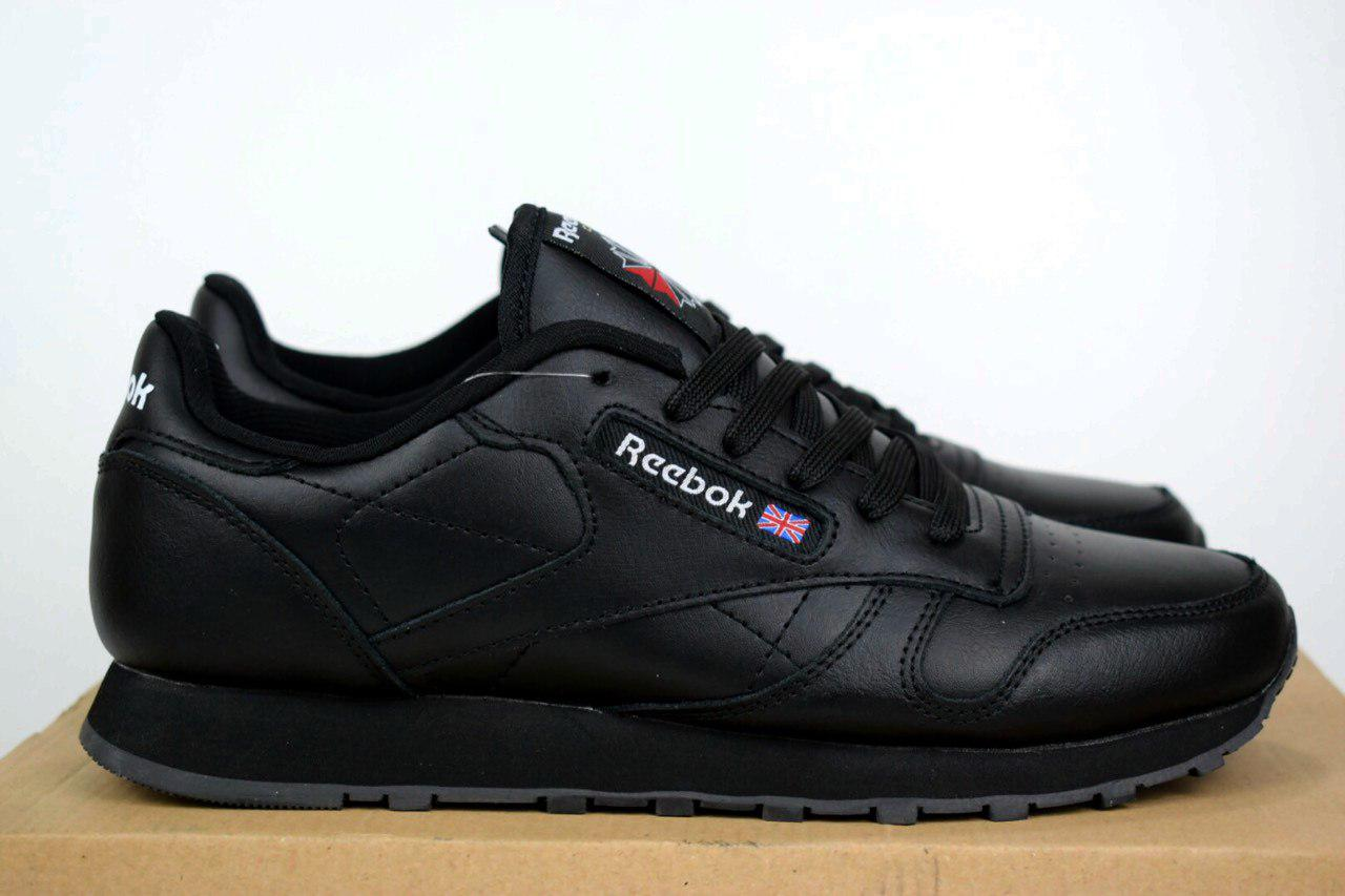 2a9f01ec Мужские кроссовки Reebok Classic черные кожа 1512 - Компания