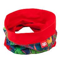 Шарф снуд  для девочки трикотажный красный TuTu арт. 3-003715
