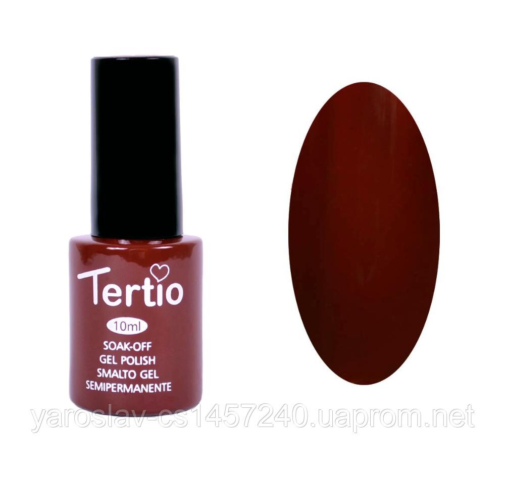 Гель лак Tertio №48, 10 мл темно-коричневый