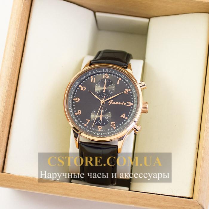 Мужские оригинальные часы Guardo gold black 04734g-10601