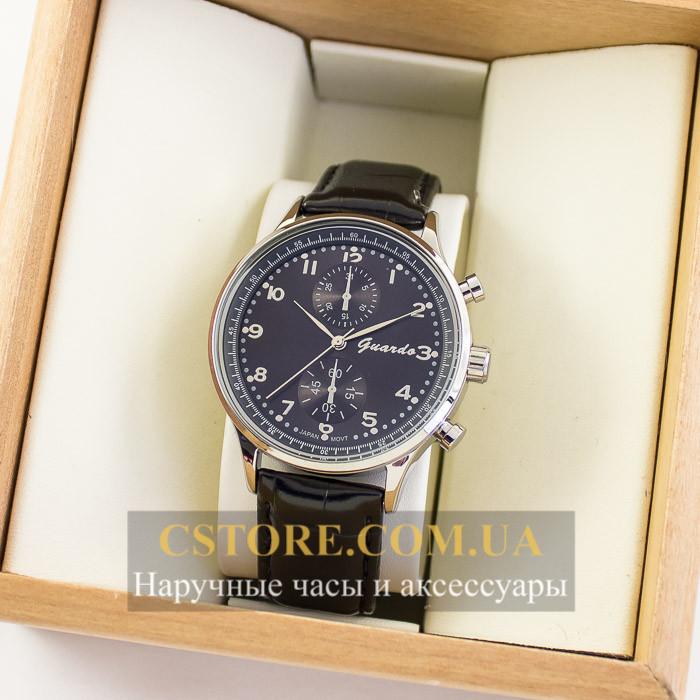 Мужские оригинальные часы Guardo silver black 04735g-10601