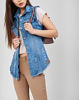 Удлиненный джинсовый жилет Универсал