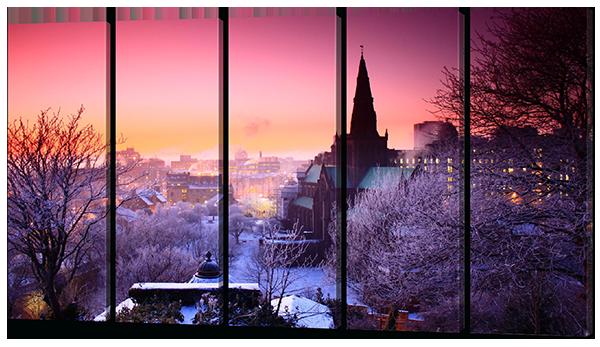 Модульная картина Зимняя Прага.Чехия (картина из пяти частей)