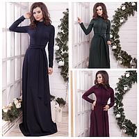 Элегантное длинное женское платье