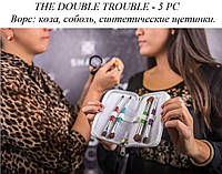 Подарочный набор кистей для домашнего пользования THE DOUBLE TROUBLE - 5 PC
