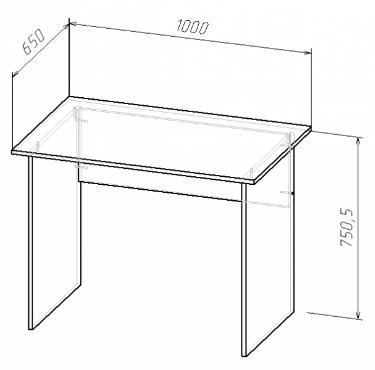 Стол прямой 100х65, фото 2