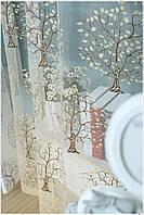 Тюль портьера Дерево счастья бежевый цвет