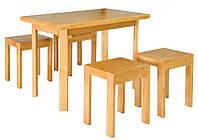 Стол кухонный Олимп + 2 табурета