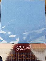 Махровые простыни на резинке с наволочками 70*70. Голубой.