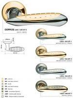 Ручка дверная на розетке Armadillo Corvus LD35-1