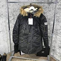 Мужская куртка Parka Moncler Rethel Black, Копия