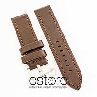Универсальный кожаный ремешок для часов dark brown 20мм, 22мм, 24мм (07310)