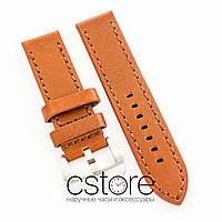 Универсальный кожаный ремешок для часов brown 20мм, 22мм, 24мм (07311)