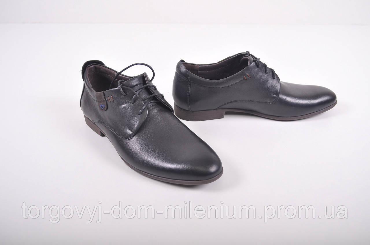 Туфли мужские из натуральной кожи (цв.черный) Veber 6612-078 Размер 42,45 9fff5cfadee