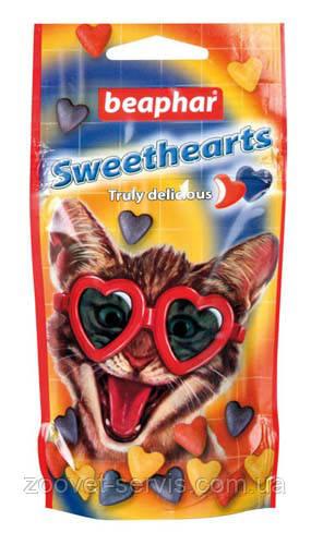 Витамины для кошекСердечки Beaphar Sweethearts с моллюсками и ракообразными 150 шт