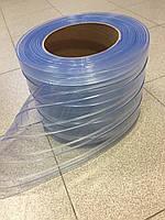 Лента ПВХ ребристая прозрачная 200х2R