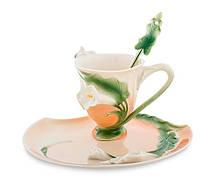Фарфоровая чайная пара Лилия (Pavone) FM- 01/11, фото 1