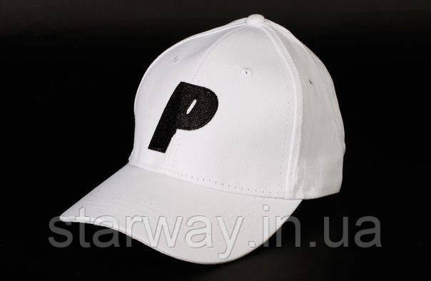 Кепка біла Palace логотип вишивка