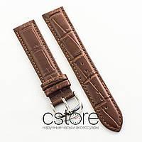 Для часов кожаный ремешок Slava af56 brown 18мм, 20мм, 22мм, 24мм (07410)