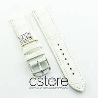 Кожаный для часов ремешок Nagata white 18мм, 20мм, 22мм, 24мм (07401)