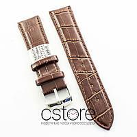 Кожаный для часов ремешок Nagata brown 18мм, 20мм, 22мм, 24мм (07404)