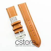 Кожаный для часов ремешок Nagata light brown 18мм, 20мм, 22мм, 24мм (07403)