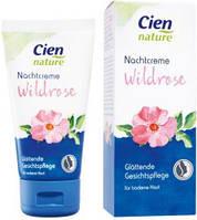 Ночной крем с экстрактом лепестков розы для любой кожи лица Cien nature Nachtcreme 50 мл.