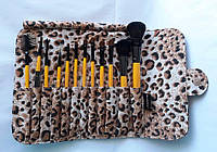 Подарочный набор кистей Shany для макияжа Leopard - 12pc