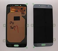 Оригинальный дисплей (модуль) + сенсор для Samsung Galaxy J7 2017 J730 | J730F (голубой цвет, Super AMOLED)