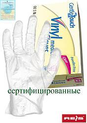 Виниловые перчатки без слоя пудра RVIN-BEZP T
