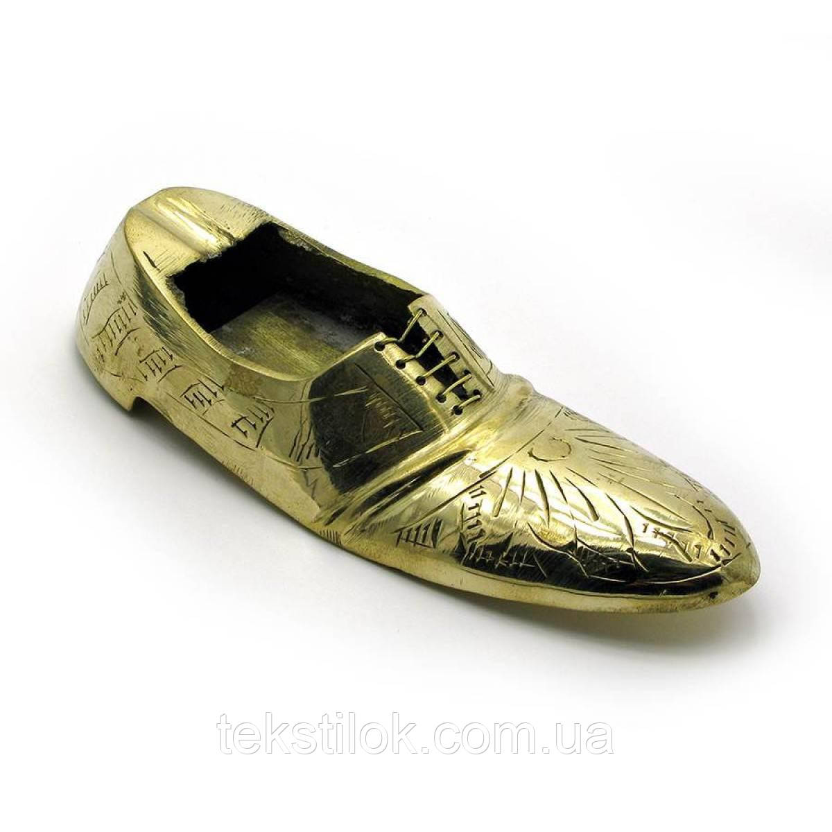 Пепельница туфля бронзовая 11 см