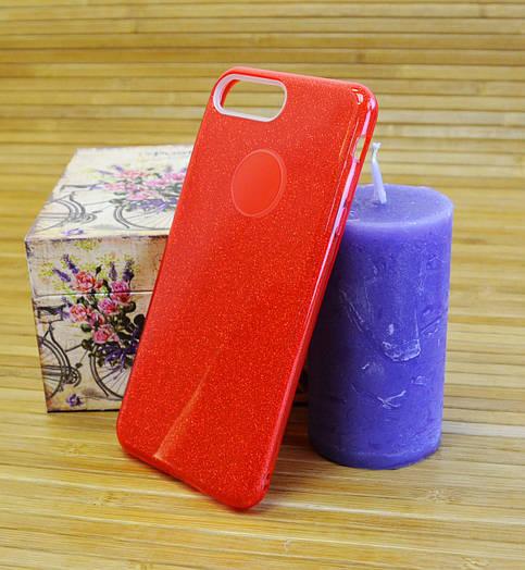 Силиконовый чехол на Айфон, iPhone 7+ \ 7 Plus TWINS красный