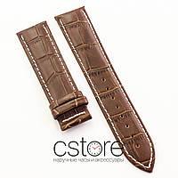 Для часов кожаный ремешок универсальный brown white 18мм, 20мм, 22мм, 24мм (07507)