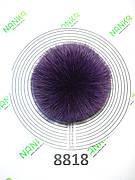 Хутряний помпон Песець, Фіолетовий, 12 см, 8818