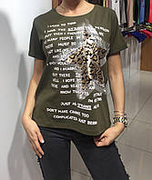 Летняя женская турецкая футболка с рисунком в форме звезды