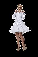 Халат медицинский женский Маргарита 42-170 рубашечный белый-белый