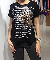 Летняя женская турецкая футболка с рисунком