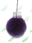 Хутряний помпон Песець, Фіолетовий, 12 см, 8820
