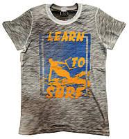"""Футболка для мальчиков """"Learn to Surf"""" 10-14 ktn"""
