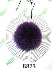 Меховой помпон Песец, Фиолетовый, 12 см, 8823, фото 2