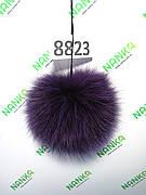 Хутряний помпон Песець, Фіолетовий, 12 см, 8823