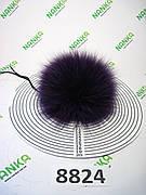 Хутряний помпон Песець, Фіолетовий, 12 см, 8824