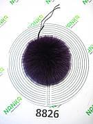 Хутряний помпон Песець, Фіолетовий, 11 см, 8826
