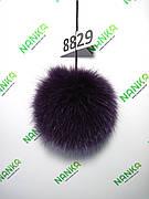 Хутряний помпон Песець, Фіолетовий, 11 см, 8829